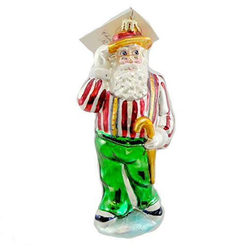 Christopher Radko SOFT SHOE SANTA Blown Glass Ornament Dance Cane by Christopher Radko