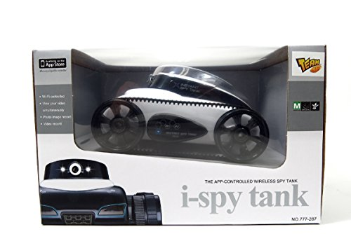 AMPERSAND SHOPS i-Spy Tank App-Controlled Wireless Spy Tank Night Vision Camera (White) (With Tank Spy Night Vision)