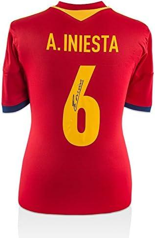 Iconos Tienda Unisex icaiss1 Back Andrés Iniesta Firmado España 2016 Camiseta de la Temporada, na: Amazon.es: Deportes y aire libre