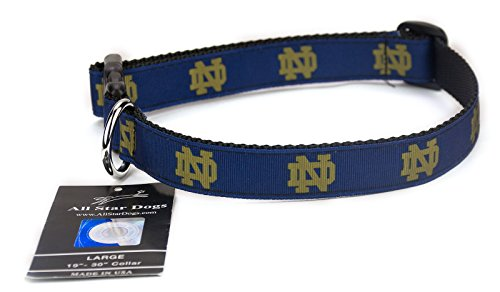 All Star Dogs Notre Dame Ribbon Dog Collar - ()