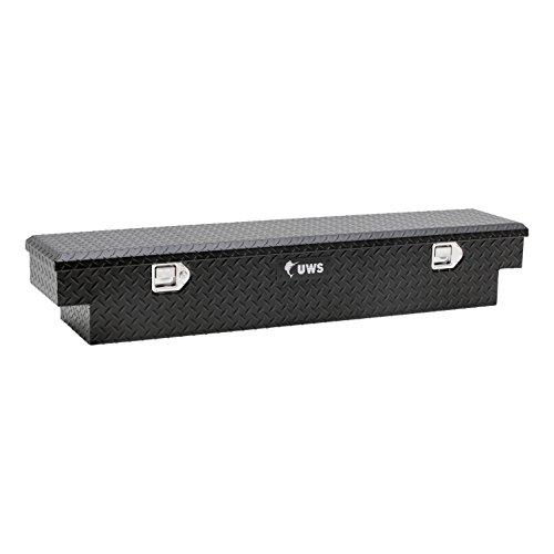 (UWS EC10903-PR Polaris Ranger Tool (59 Inch UTV Cargo Box-Matte Black Powder-Coated Aluminum) -Damage Guarantee)