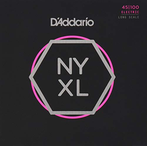 (D'Addario NYXL45130 Nickel Wound Bass Guitar Strings, 5-String Regular Light, 45-130, Long Scale)