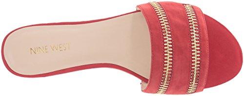 Nine West Women's Schaffer Suede Dress Sandal Red X1xGawol