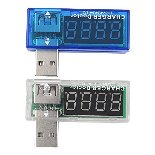 Caricabatterie USB facile e conveniente Medico Tester per batteria mobile Rilevatore di potenza Misuratore di corrente Misuratore di corrente 3,5-7,0 V 0-3A Trasparente