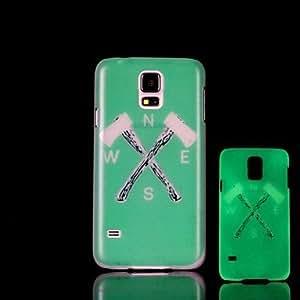 ZL Ax Pattern Glow in the Dark Hard Case for Samsung Galaxy S5 I9600