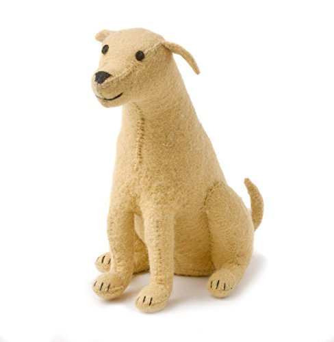 Arcadia Home Dfly Yellow Lab Door Stop in Hand Felted Wool