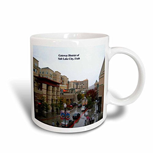 3dRose (mug_156556_2) Gateway District of Salt Lake City, Utah - Ceramic Mug, - Outlets Lake City Utah Salt