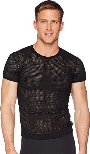 Emporio Armani Men's Tech Mesh Slim Fit Crew Neck T-Shirt Black Large - Emporio Armani T-shirt Top