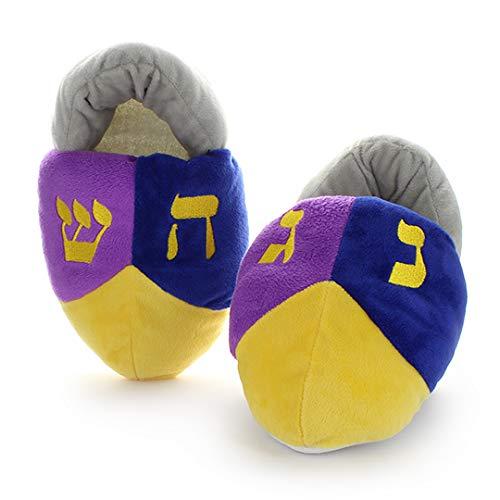 Cazenove Hanukkah Kids Dreidel Slippers (Medium European 29-32)