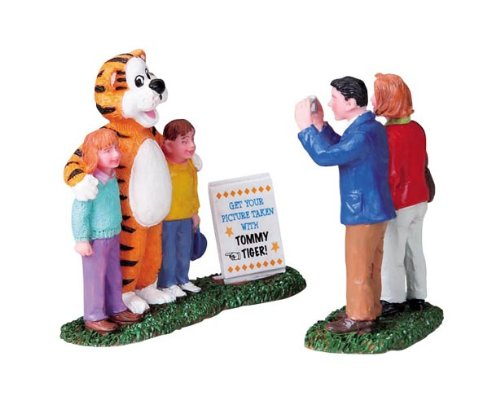 (Lemax Carnival Village Kids with Tommy Tiger 2-Piece Figurine Set #82502)