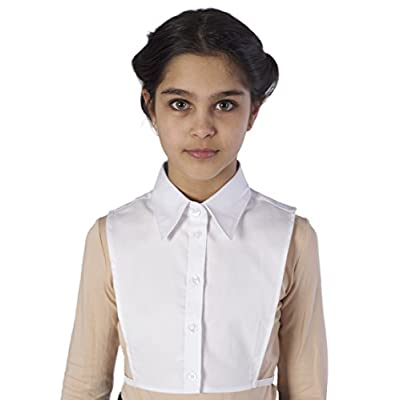 Blooks Womens Fake Shirt Collar Dickey False Half Shirt Pointy, Round, Scalloped: Clothing
