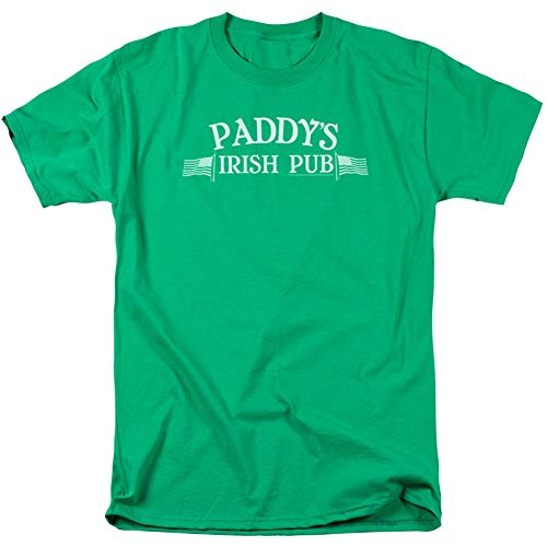Trevco It's Always Sunny In Philadelphia Paddy's Irish Pub Logo Mens Adult T-Shirt Kelly Green (Small) from Trevco