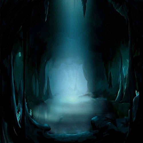 GladsBuy Evil Cave 8' x 8' Computer Printed Photography Backdrop Forest Theme Background LMG-340