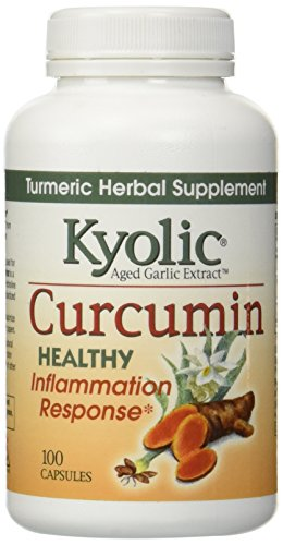 100 Garlic Extract - Kyolic Aged Garlic Extract Curcumin Healthy Inflammation Response Supplement (100-Capsules)