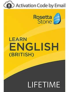 Rosetta Stone: Learn English (British) with Lifetime Access on iOS, Android, PC, and Mac - mobile & online access [PC/Mac Online Code] (B07GJTJRNX) | Amazon price tracker / tracking, Amazon price history charts, Amazon price watches, Amazon price drop alerts