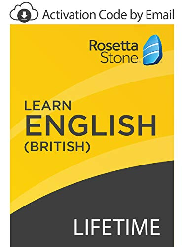 Rosetta Stone: Learn English (British) with Lifetime Access on iOS, Android, PC, and Mac [Activation Code by Email] (Rosetta English Stone American)