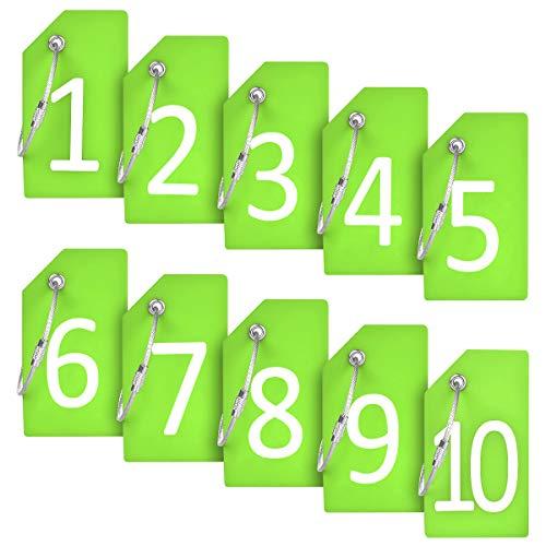 Identificador de Valijas con cable Acero - 1-10 Verde