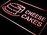 ADVPRO Cheese Cakes Shop Cafe Ad Adv LED Neon Sign Red 16'' x 12'' st4s43-i483-r