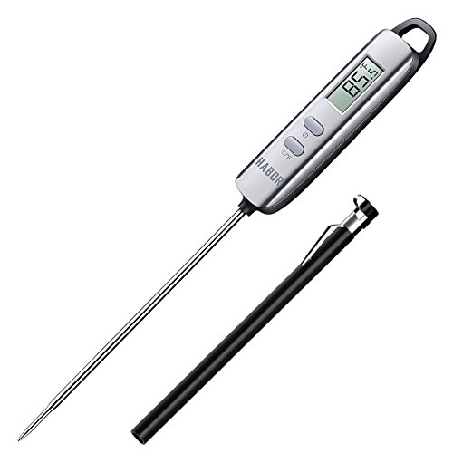 Meat Thermometer, Habor Digital Meat Thermometer Instant Read Thermometer Candy Thermometer with Super Long Probe for Kitchen Cooking BBQ Grill Smoker Meat Fry Food Milk Homebrewing