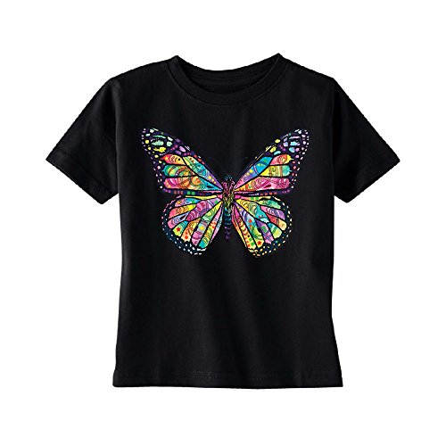 Colorful Cute Butterfly Toddler T-Shirt Official Dean Russo Kids Black 4T by Zexpa Apparel