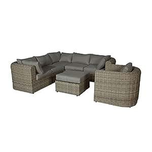 Jardín Lounge outliv. Memphis II Lounge Juego de 6piezas trenzado Passion Willow 700016–836476