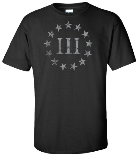 Three Percenter - Black Front Print - XL