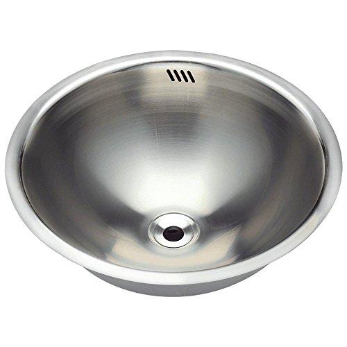 Vanity Stainless Sink - 420 18-Gauge Dual-Mount Stainless Steel Bathroom Sink