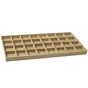 Wolf Designs 435670 Vault Series Earring Tray Insert, Beige