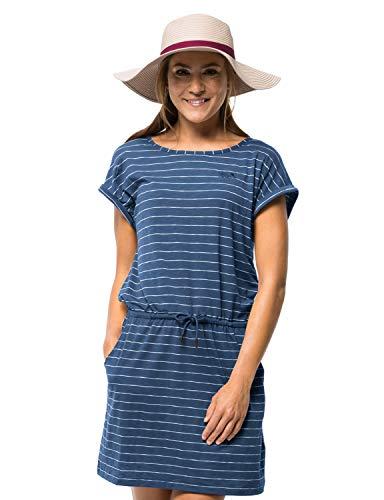 Jack Wolfskin Women's Travel Striped Women's Odor Inhibiting Dress,Ocean Wave Stripes -