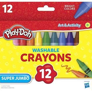 (Leap Year Publishing 1577686 Washable Super Jumbo Crayons44; Assorted Colors - Set of 12)