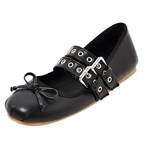 TAOFFEN Basse Caviglia con Black 04 alla Tacco Cinturino Donna Scarpe prq5p