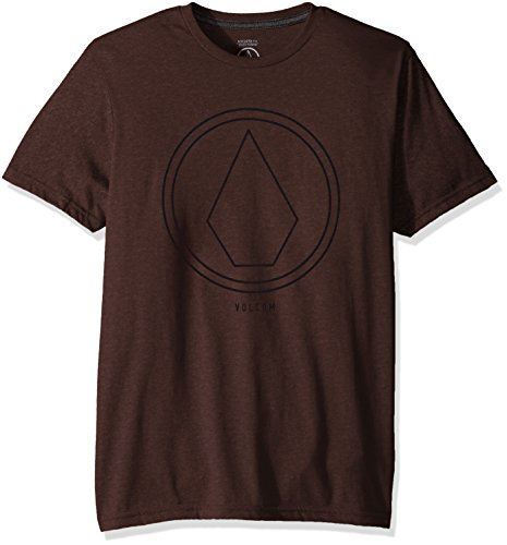 3360 Labels - Volcom Young Men's Volcom Men's Pin Line Stone Modern Fit Short Sleeve Shirt Shirt, Plum Heather, M