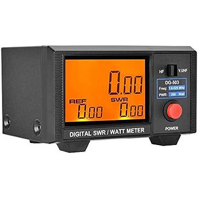 Garsent Digital SWR Watt Meter LCD 3 5  SWR Watt Meter 1 6-60MHz 125-525MHz for Two-way Radios