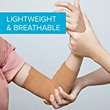 4-inch Wide Self Adherent Cohesive Wrap Bandages (8 Pack) Bundle, 5 yds Self Adhesive Non Woven Bandage Rolls, Brown Athletic Tape for Wrist, Ankle, Hand, Leg, Premium-Grade Medical Stretch Wrap