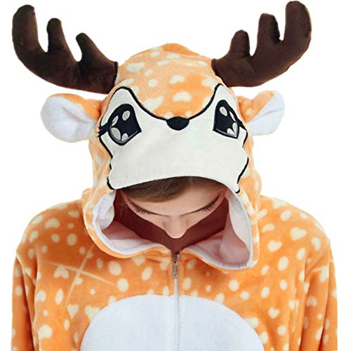 Deer Costume Adult Onesie Christmas Pajamas for Women Men Teen Girl Animal Onsie