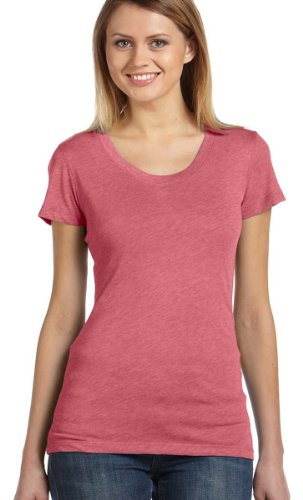 Bella B8413 Ladies 4 oz. Cameron Tri-Blend T-Shirt - LT RED TRIBLEND - X-Large ()