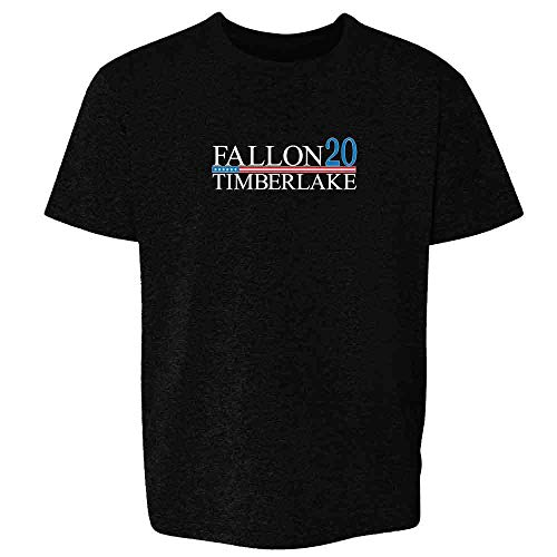 Pop Threads Fallon Timberlake 2016 Presidential Election Funny Black M Youth Kids T-Shirt