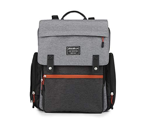 Eddie Bauer Highline Back Pack Diaper Bag, Grey