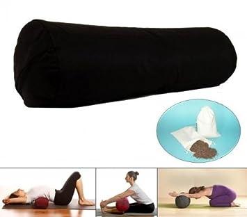Yoga Bolster Mani Bhadra redondo negro: Amazon.es: Deportes ...