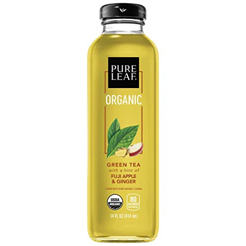 Pure Leaf, Organic Iced Tea, Fuji Apple & Ginger, 14oz Bottles (Pack of 8) (Packaging May Vary)