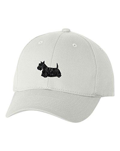 Terrier Embroidered Cap (Scottish Terrier Custom Personalized Embroidery Embroidered Hat Cap)