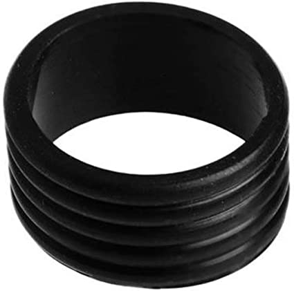 Pack Of 2 Stretchy Tennis Racket HandleS Anti-Slip Rubber Ring Racquet Band Overgrips Silicone Handle Ring-Black