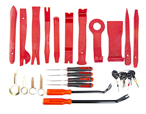 Fstop Labs 32 Pieces Auto Upholstery Trim and Molding Removal Tool Kit, Car Dash Panel Removal and Install Kit with Storage Bag by Fstop Labs (Image #1)