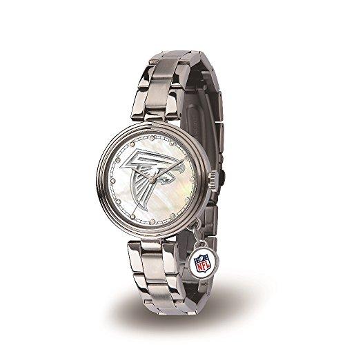 Falcon Logo Charm - NFL Atlanta Falcons Charm Watch, Silver