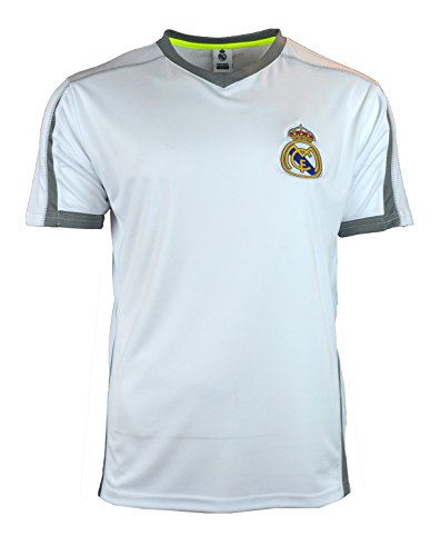 Real Madrid Soccer Jersey Adult Training Performance Polyester -Shirts -  Home -Away (White T1Y24 40ddc96c7