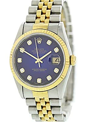 Rolex Datejust Automatic-self-Wind Male Watch 16233 (Certified Pre-Owned) from Rolex