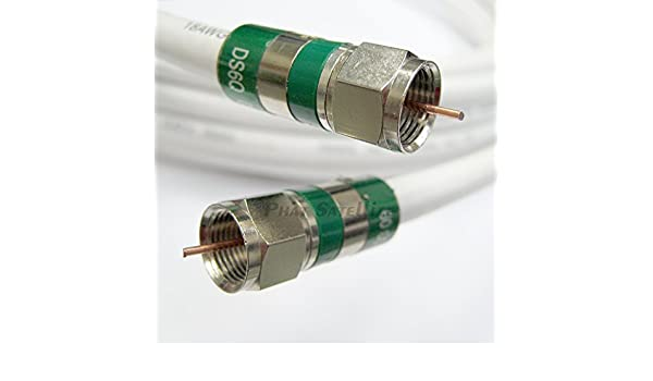 Amazon.com: 30ft Quad Shield RG-6 Coax 75 Ohm 3Ghz Cable (CATV, Satellite TV, or Broadband Internet) with COMPRESSION COAXIAL CONNECTORS: Electronics