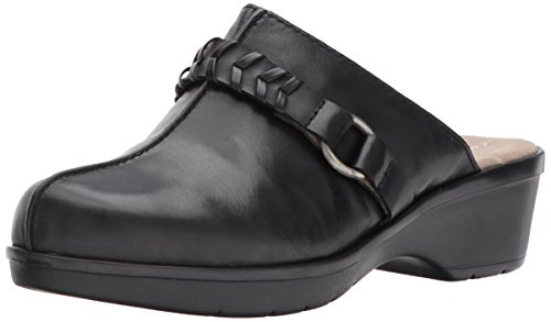 Pierson Mule, Black/Multi Leather, 9 M US (Easy Spirit Leather Clogs)