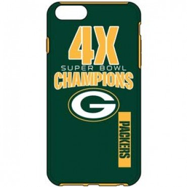 NFL Super Bowl Commerative Iphone 6 Impact Dual Hybrid 2 Piece Phone Cover Case - Pick Team (Green (Green Bay Packers Telephone)