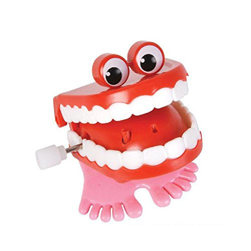 1.75'' Chatter Teeth With Eyes by Bargain World